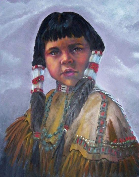 Young Indian Girl - Sharon Slater