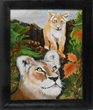 Lion & Cub Painting