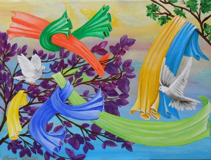 Doves of Fabric - Sharon Slater