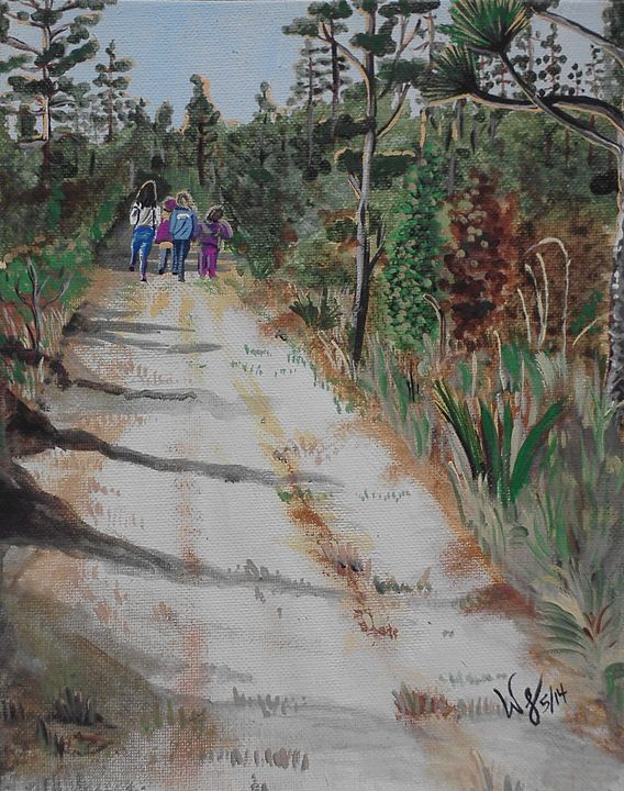 Girl Scouts on the trail - Wendy Crouch