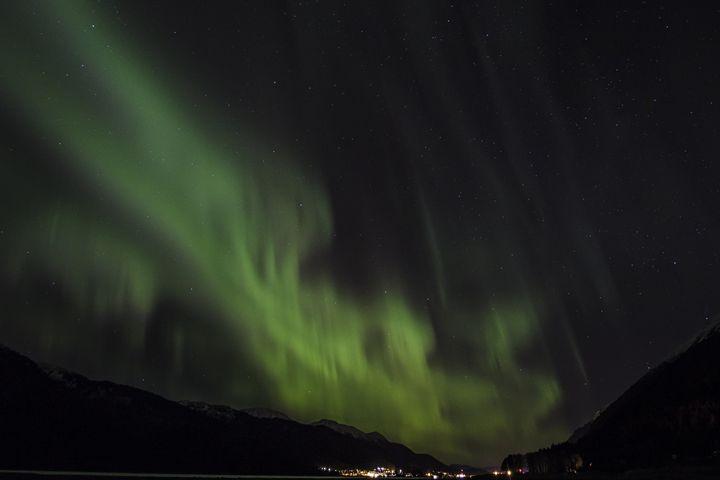 Juneau's Nite Light - wood + ink