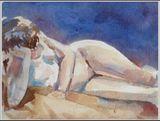 Female nude on side