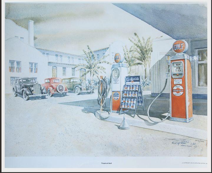 Tropical Gulf Gas Station - Zaplatar Art