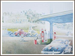 Nostalgic Texaco gas station