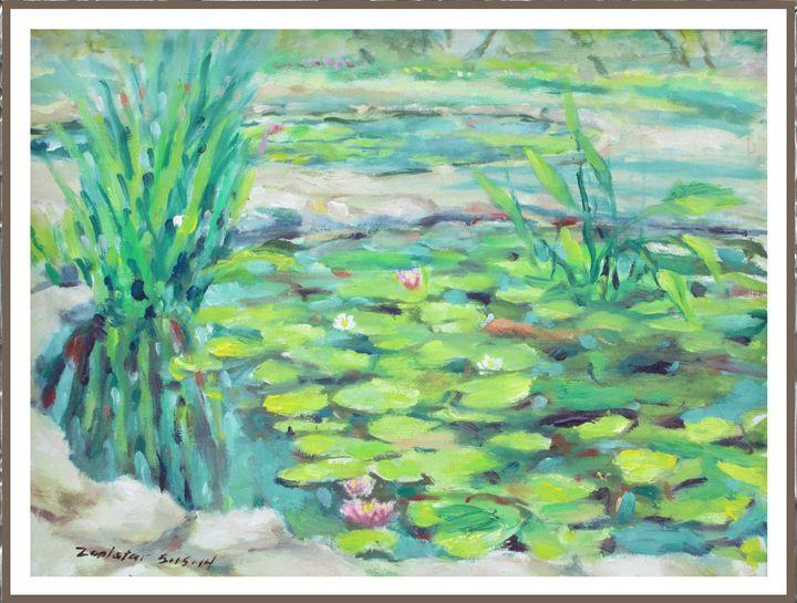 Water lilie ponds Mayfield Park 1 - Zaplatar Art