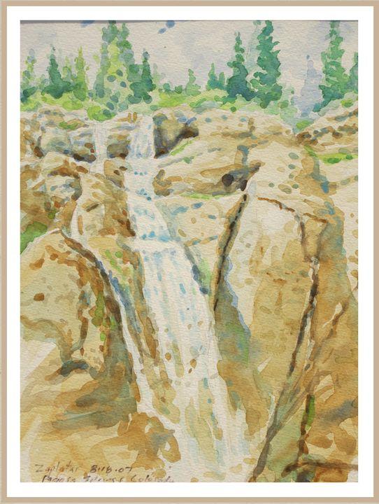 Waterfalls near Pagosa Springs Co - Zaplatar Art