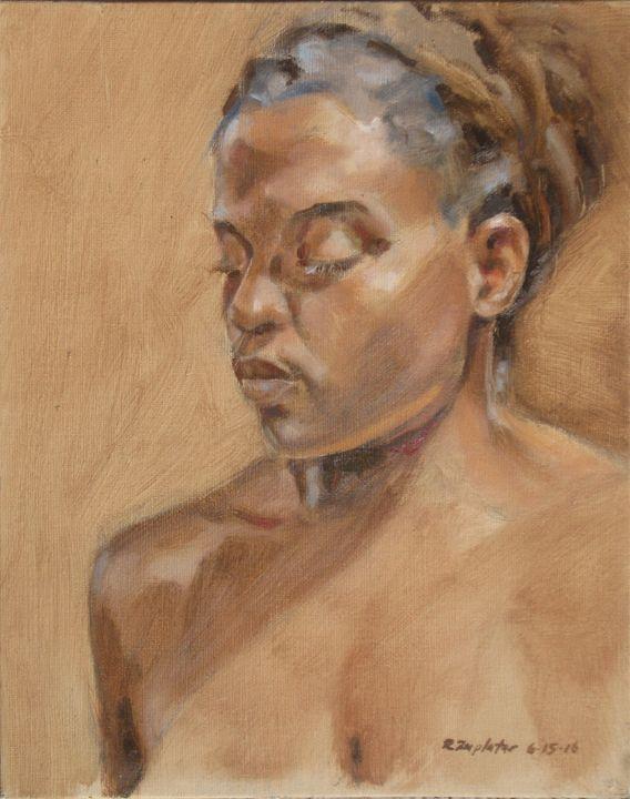 portrait of Black woman - Zaplatar Art
