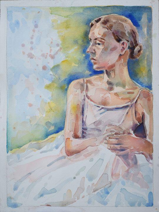 Seated Dance in Dress - Zaplatar Art