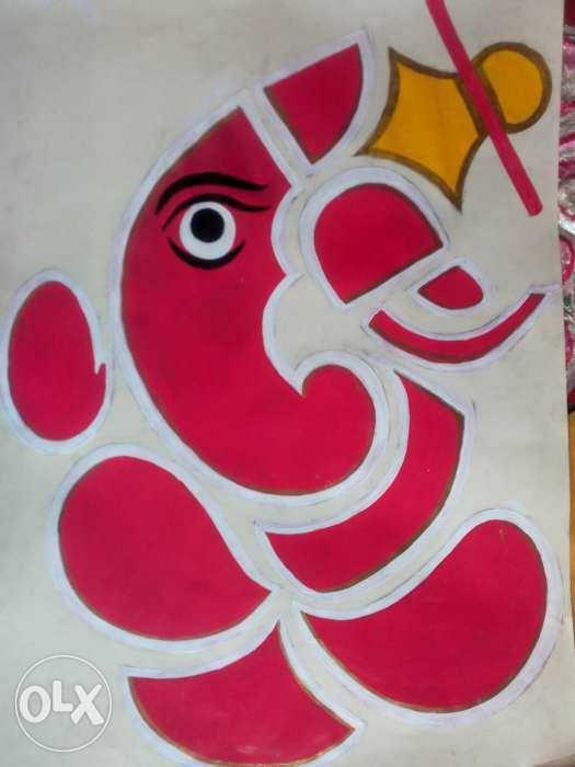 canvas ganesha.... - fine arts...
