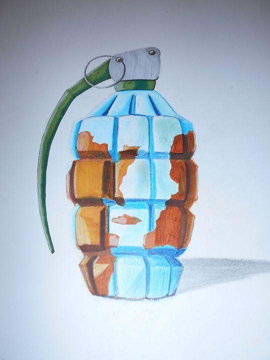 Earth grenade - Salvatore Aliverti Art