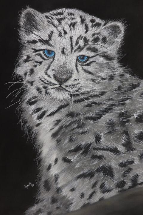 SNOW LEOPARD KITTEN; Original - DREAMZ-ART