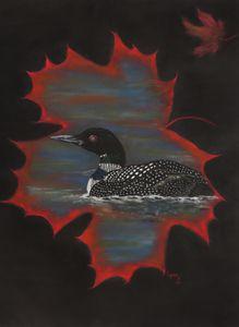 LOON, Wildlife original Art;