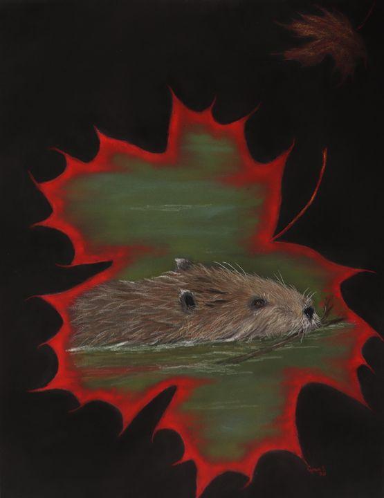 BEAVER; Wildlife Original Art - DREAMZ-ART