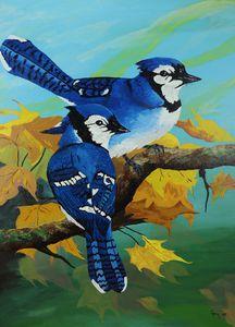 BLUE JAYS IN FALL - DREAMZ-ART
