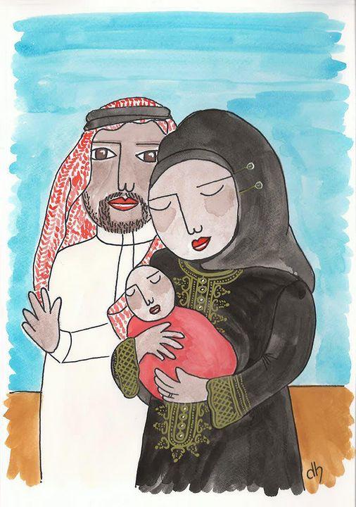 'Arabic Family,' 2018 - Diane Hanna