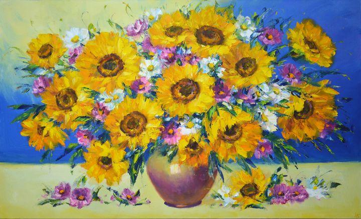 Flowers and sunflowers - Iryna Kastsova