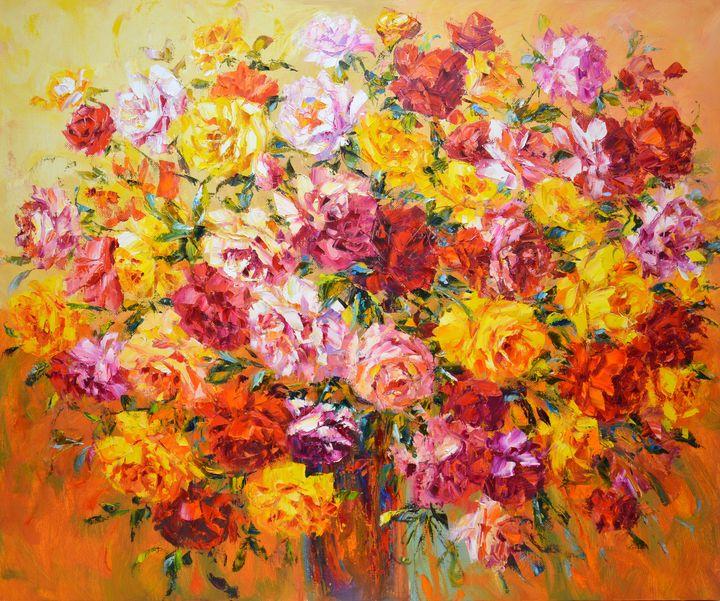 A large bouquet of roses. - Iryna Kastsova