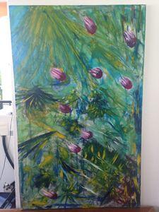 Lluvia floral  1.30x81