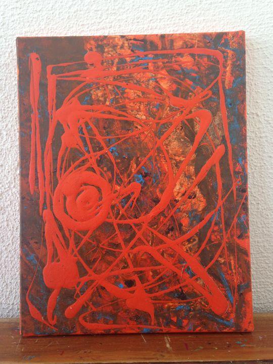 Naranja Abstracta 27x35 - Nadege Khaldi González