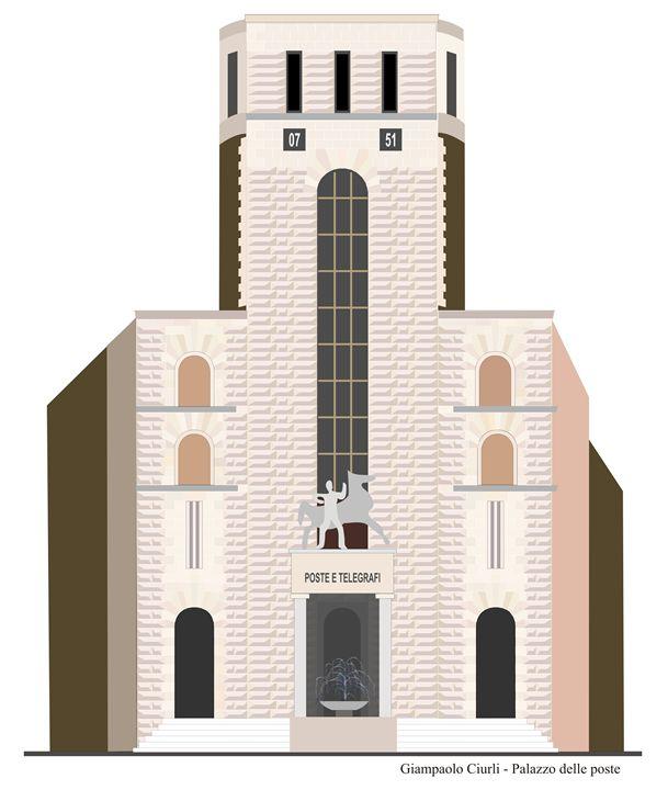 Palazzo delle poste - Grosseto - Giampaolo Ciurli