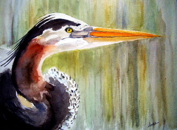 Great Blue Heron - Anne's ARTS