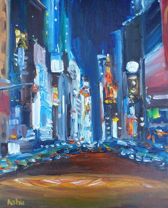 Midnight Ride through Times Square - Ashu Shendé