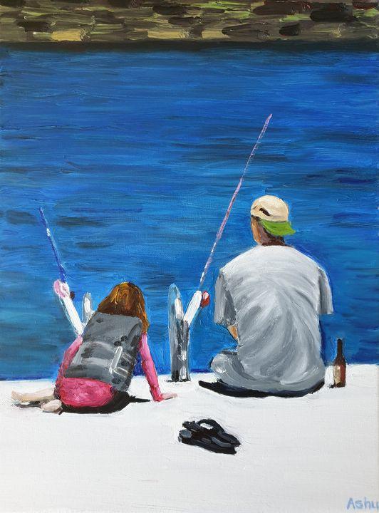 Fishing with Dad - Ashu Shendé
