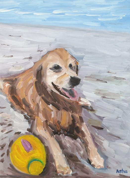 Dog on the Beach - Ashu Shendé