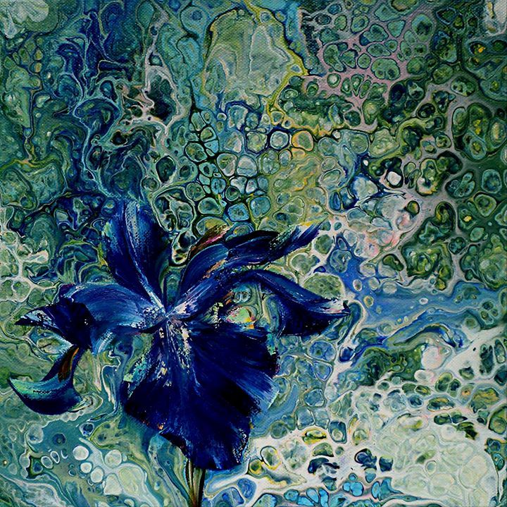 FLOWER  FLUIDITY - PAINTINGS  by  NELU  GRADEANU