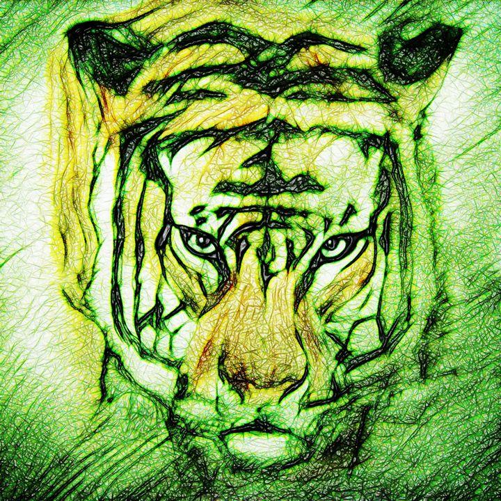 tribal tiger - NikoGraphy