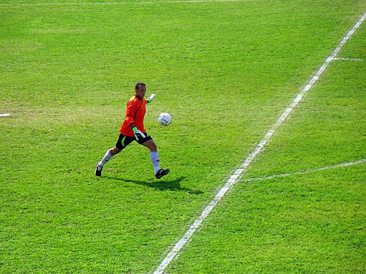 Goalkeeper in action - JohnVito