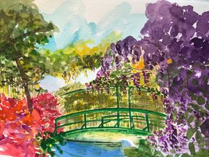 Wisteria on the Green Bridge
