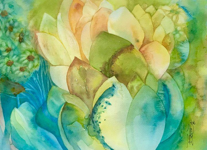 Cacti & Daisies - BobbinsArtWork