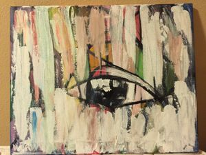 Original Acrylic Abstract. Eye