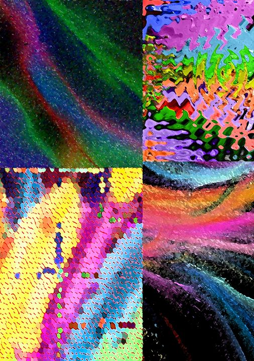 Colorful Abstract Squares - MannyBell