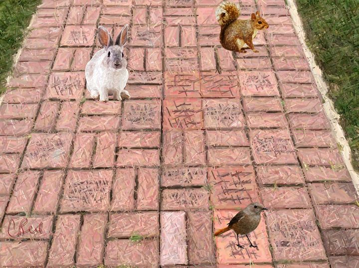 Animals on Sidewalk - MannyBell