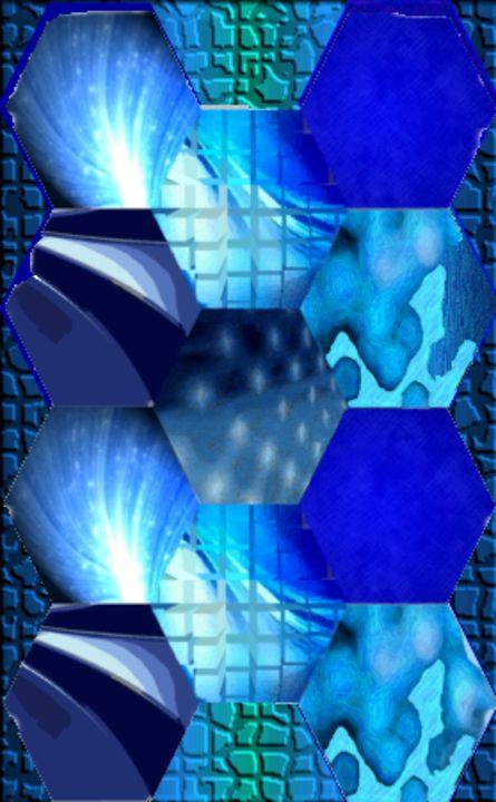 Blue Pentagons - MannyBell