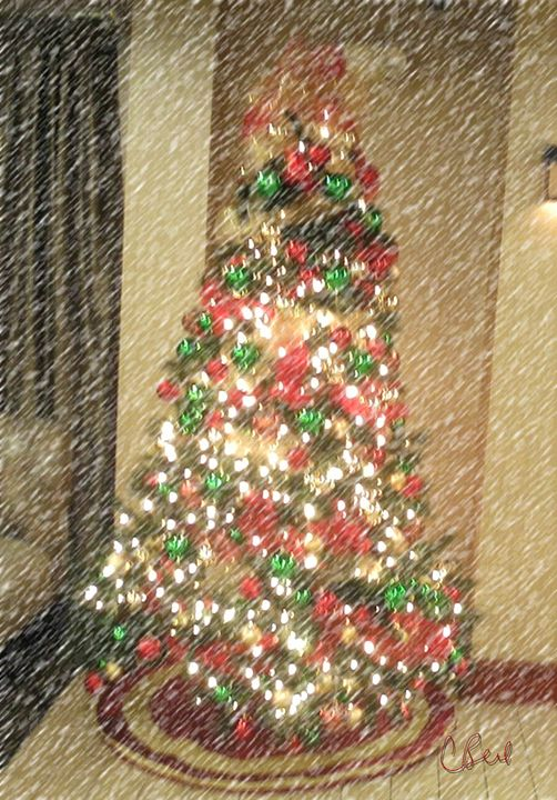 Snowy Christmas Tree - MannyBell