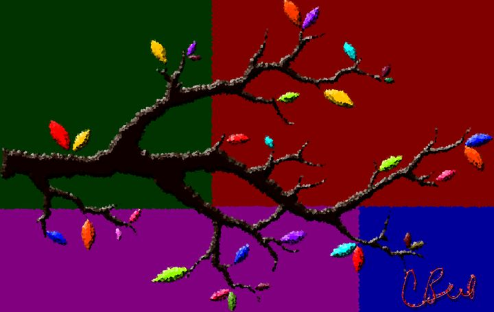 Colorful Tree Branch - MannyBell