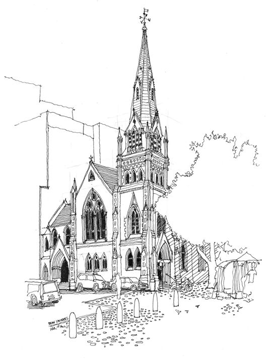 Church on Greenmarket Square. - A Sketchy Process