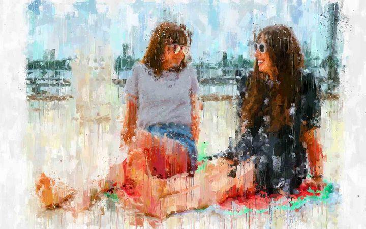 Resting in the Beach - Tony Luza