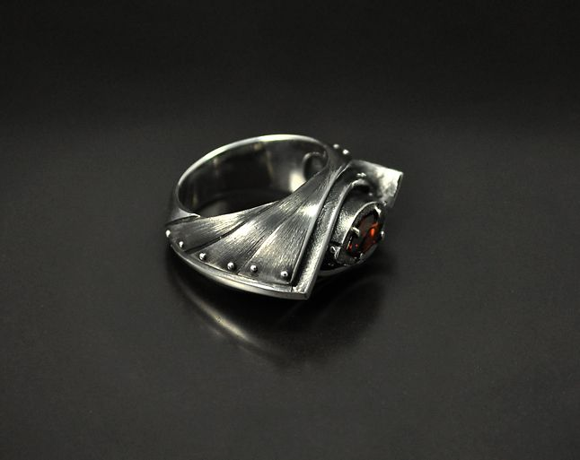 "Silver Ring ""Amarendum"" - GatoJewel"