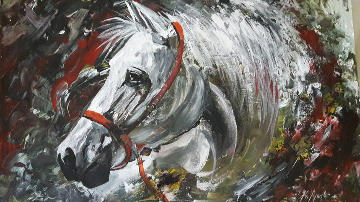 Oil painting on canvas board - Ayoob kavungal