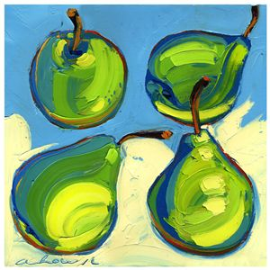 Special Four Pears 10x10 Modern Art
