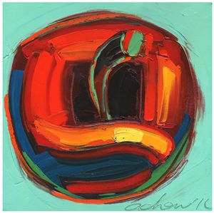 Golden Apple 10x10 Modern Art