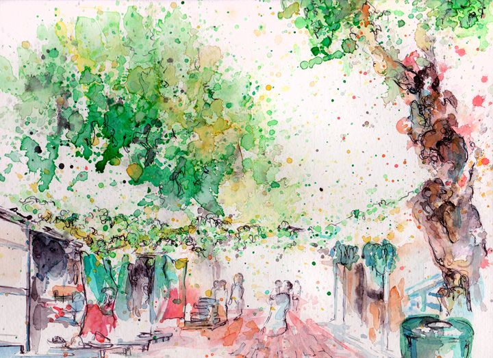 Olvera Street - Sketching Spot