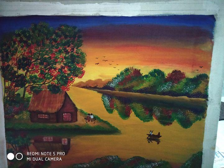 Acrylic painting - Odisha traditional pattachitra painting