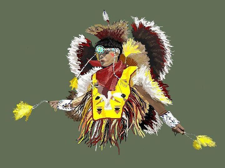 Pow Wow Dancer - C. K. Boyd Art