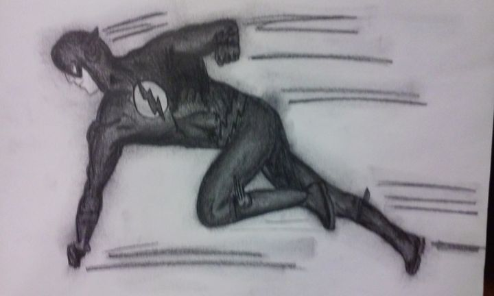 The Flash graphite - Wizard of Art