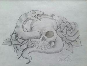 Skull/Snake sketch